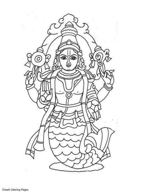 Coloring goddesses and coloring pages on pinterest for Hindu gods coloring pages