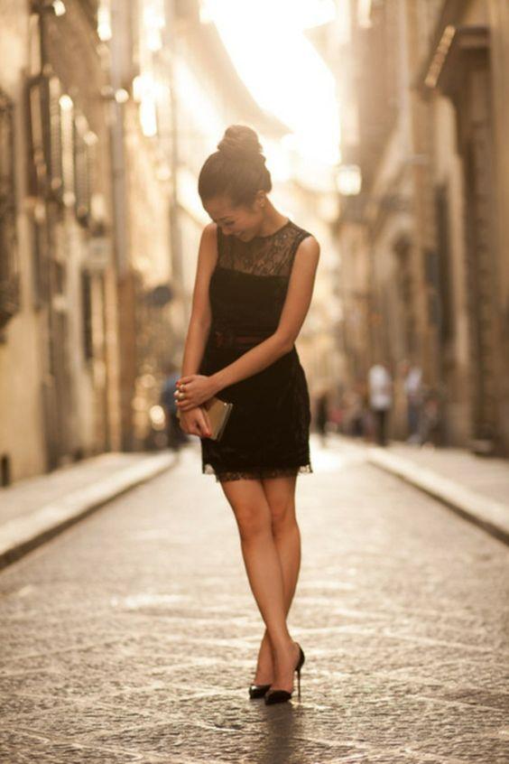Une robe noire chic pas cher robe noire courte chic