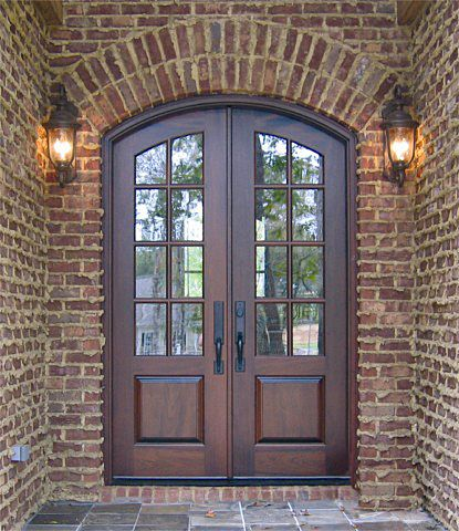 French exterior wood entry doors and country french on for Country style doors