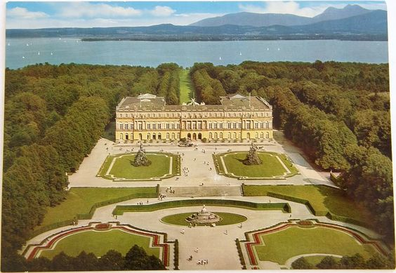 [Bavaria] Herrenchiemsee Castle, Germany. On an island in Lake Chiemsee, accessed only by boat and then a carriage ride! King Ludwig modeled this after the French palace of Versailles.