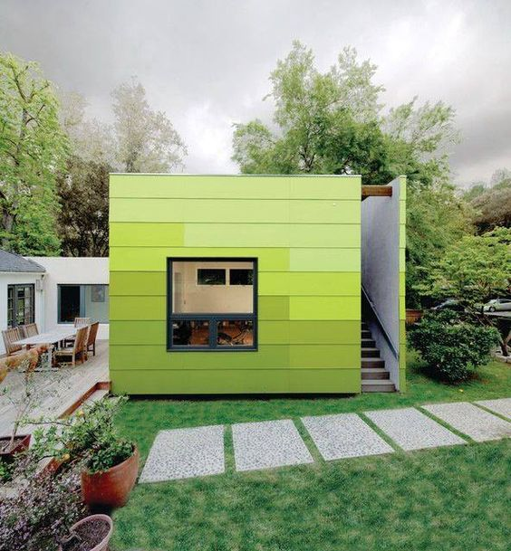urban modz not a container but great cladding on this backyard office backyard office pod 4