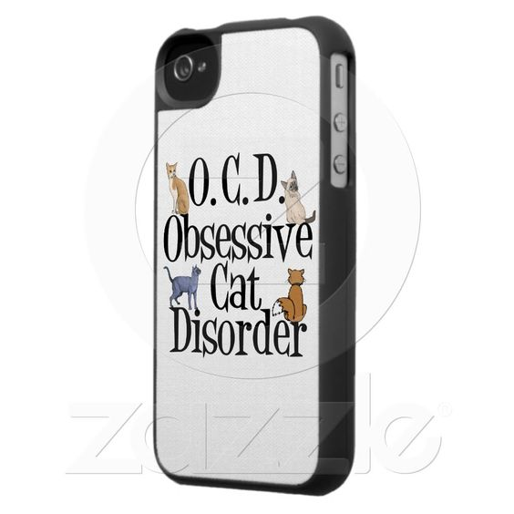 O.C.D. - Obsessive Cat Disorder iPhone Case