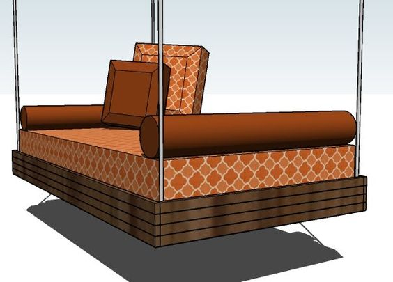 how to build a hanging bed frame