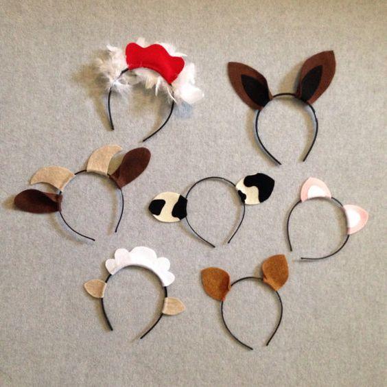 7 barnyard ferme animaux thème oreilles serre-tête par Partyears