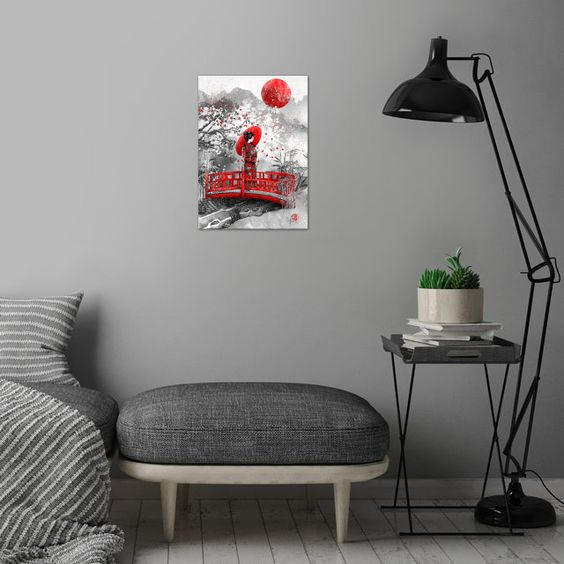 Higasa Japanese Asian Poster Print Metal Posters Decor Metal Posters Abstract Poster