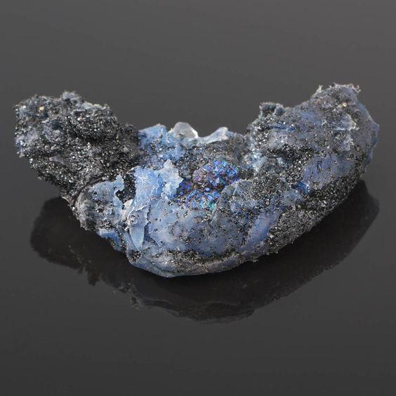Jelizaveta Suska - Frozen Moment Night edition - Brooch. Front- gold titanium   minerals  stone  front - 2016