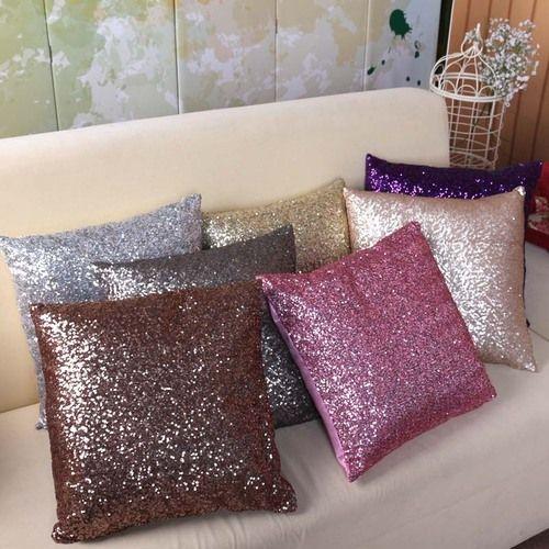 Resultado de imagem para glitter pillows diy