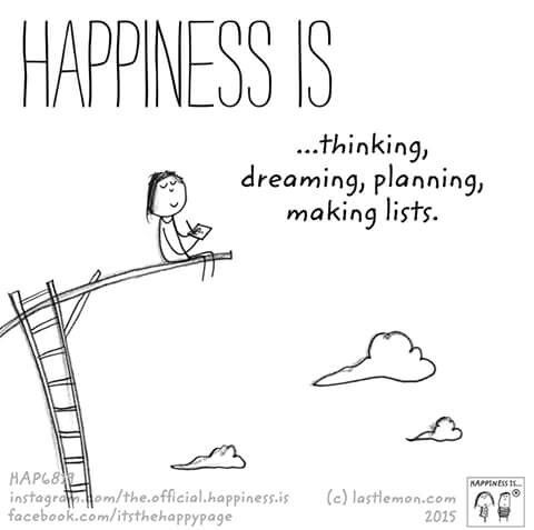 Happiness is.... so much planning done and more to be done!