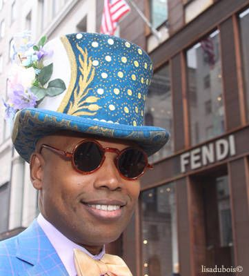 Easter Parade Blue Top Hat
