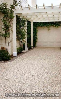 I want a trellis like this over my driveway. concrete driveways melbourne east