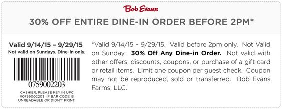 3 Off 10 And More At Bob Evans Restaurants Coupon Via The Coupons App Restaurant Coupons Coupons Coupon Apps
