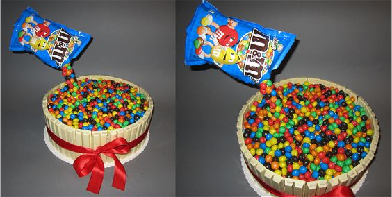 KitKat-M&M's Torte/Gravity Cake