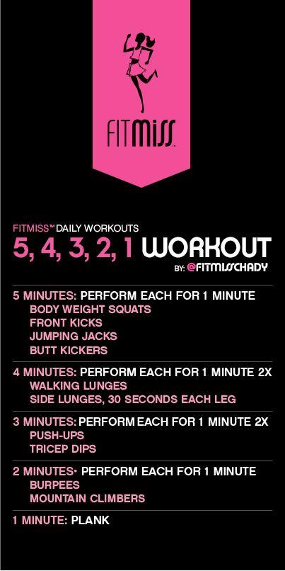 5,4,3,2,1 workout: