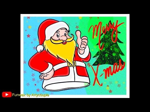 How To Draw Santa Claus For Christmas Step By Step Christmas Tree Drawing With Santa Youtube Christmas Tree Drawing Tree Drawing How To Draw Santa