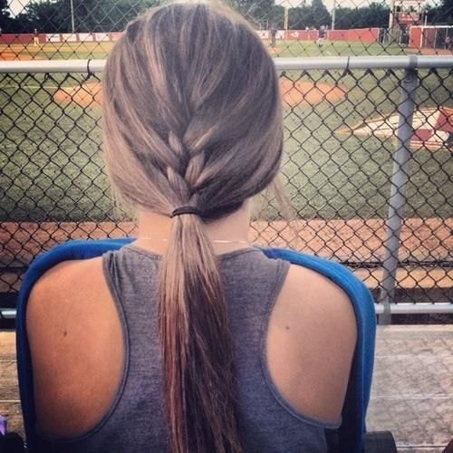 Wondrous Braids Games Football And Cute Hair On Pinterest Hairstyle Inspiration Daily Dogsangcom