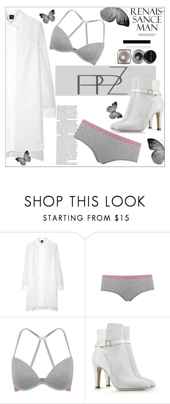 """""""PPZ Lingerie"""" by mycherryblossom ❤ liked on Polyvore featuring McQ by Alexander McQueen, Alberta Ferretti and Bobbi Brown Cosmetics"""