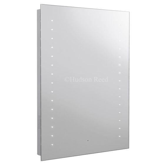Hudson Reed - Corona LED Motion Sensor Mirror with Bluetooth, stereo speakers - LQ060