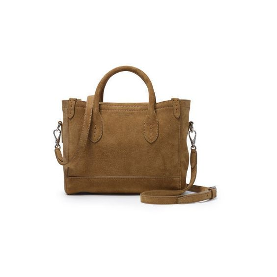 Ralph Lauren Mini Classic Suede Tote ($1,250) ? liked on Polyvore featuring bags,