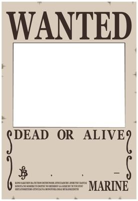 wanted one piece poster template