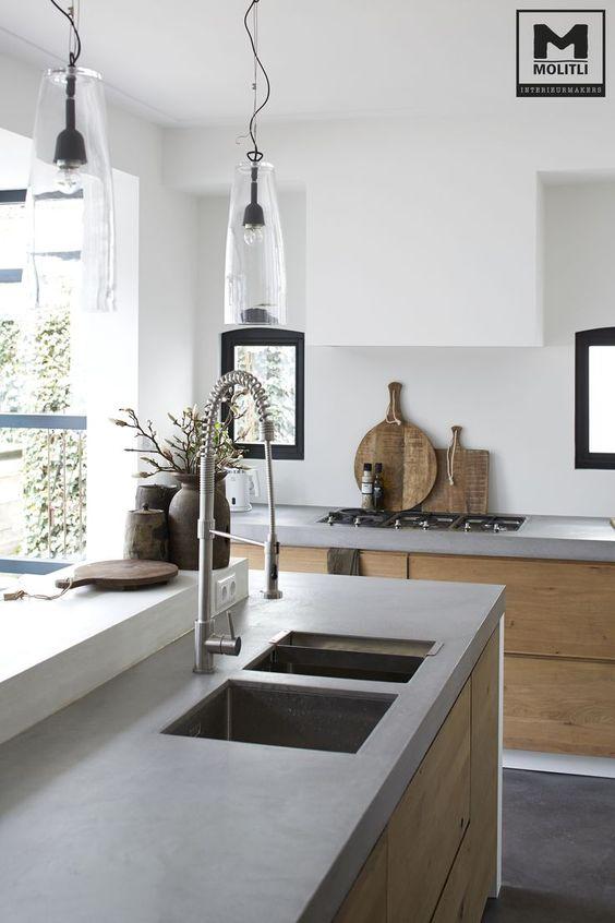 Beton Arbeitsplatte Küche www.molitli-interieurmakers.nl ähnliche ...