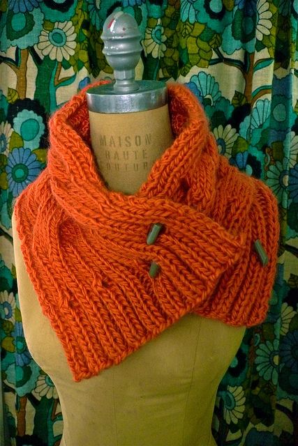 Cover Cowl from Knit Simple in Coral(ish)