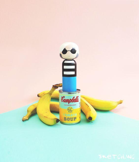 Andy Warhol Kokeshi Doll - sketchinc: