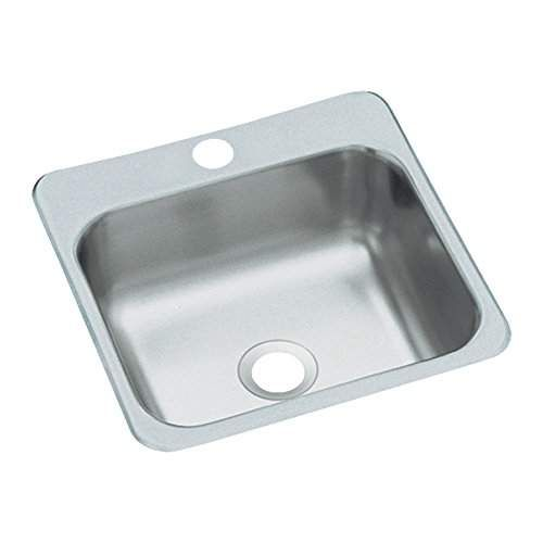 Sterling B153 1 Secondary 15 Inch By 15 Inch Top Mount Single Bowl Bar Sink Stainless Steel Bar Sink Sink Stainless Steel Bar
