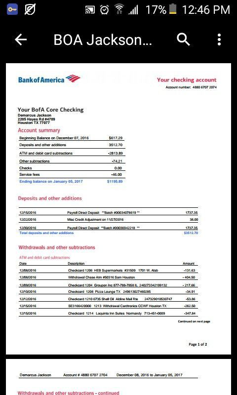 25 Bank Of America Statement Template In 2020 Statement Template