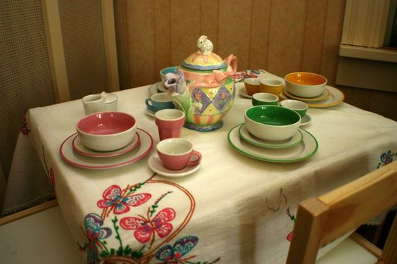 Tea table in tea room | Uploaded to Pinterest
