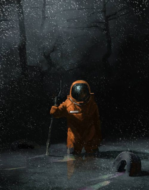 Рем Борейко artwork. (via ArtStation - Последний герой, Рем Борейко) More Cosmonaut here.