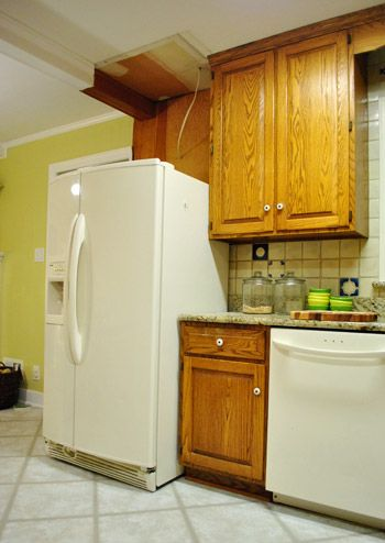 Narrow Countertop Dishwasher : They moved their fridge with very little demo so they could get a ...