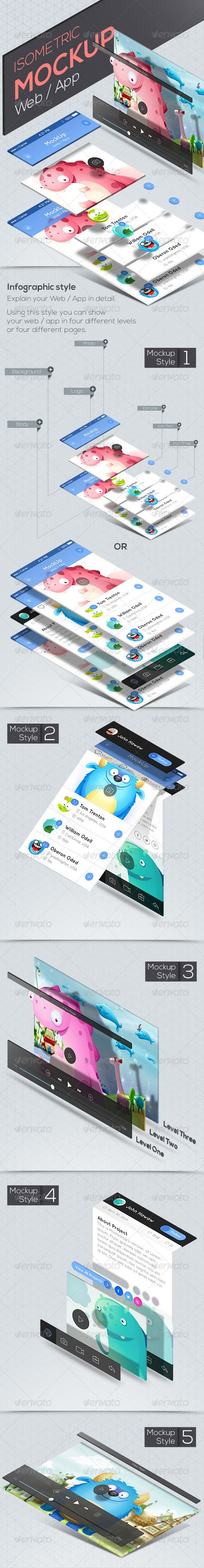 How To Create Your Isometric Mockup In Photoshop Omahpsd Mockup Photoshop Isometric Mockup Design