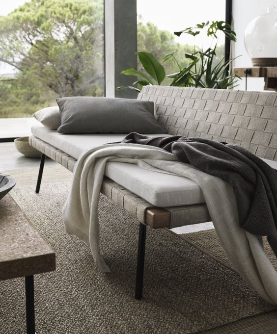 The daybed ($350) can be easily dressed down with the collection's   The Quality of Ikea's New Collection Will Blow You Away!   POPSUGAR Home