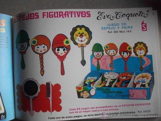 Vestidos Muñecas Españolas: Espejo figurativo Eva Coqueta con peine marca Somdos año 1972 - Foto 6 - 52723635: