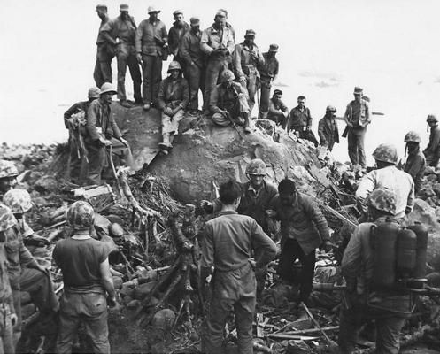 A captured Japanese soldier Iwo Jima
