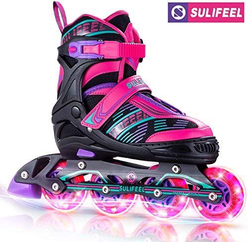 Buy Sulifeel Arigena 4 Size Adjustable Light Inline Roller Skates