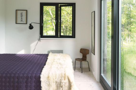 A modular vacation cottage in Denmark with two bedrooms and a sleeping loft in 797 sq ft.   www.facebook.com/SmallHouseBliss