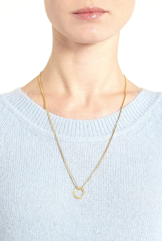Eternal Gold Ring Double Necklace by Phoebe Coleman