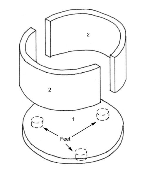 Diagram of the basic components of an outdoor firepit kit
