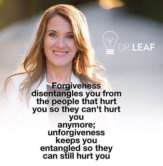 Forgiveness...Brain power.  I forgive you.