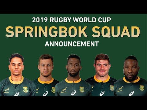 Rugby World Cup 2019 Springbok Rugby World Cup Squad Announcement Springbok Rugby Rugby World Cup World Cup