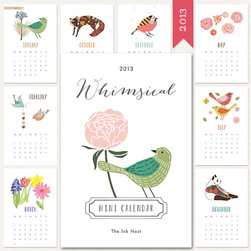Fácil y Sencillo: DIY - 7 Calendarios del 2013 Imprimibles y ¡Gratis!