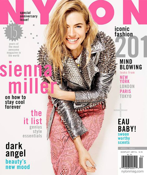 Sienna Miller, Anniversary Issue, April 2014: http://shop.nylonmag.com/collections/whats-new/products/sienna-miller-anniversary-issue-april-2014 #NYLONshop