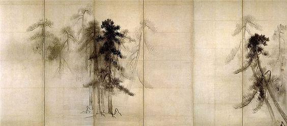 Hasegawa Tōhaku   Pine Trees.