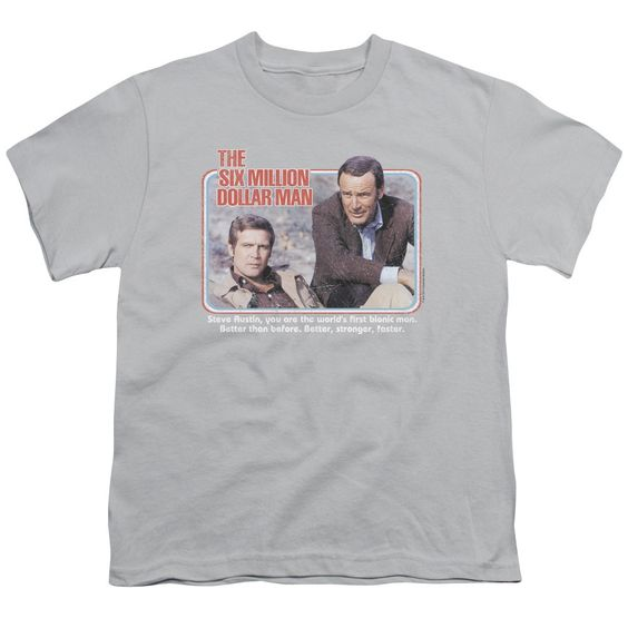 Six Million Dollar Man/The First Short Sleeve Youth 18/1 in , Boy's