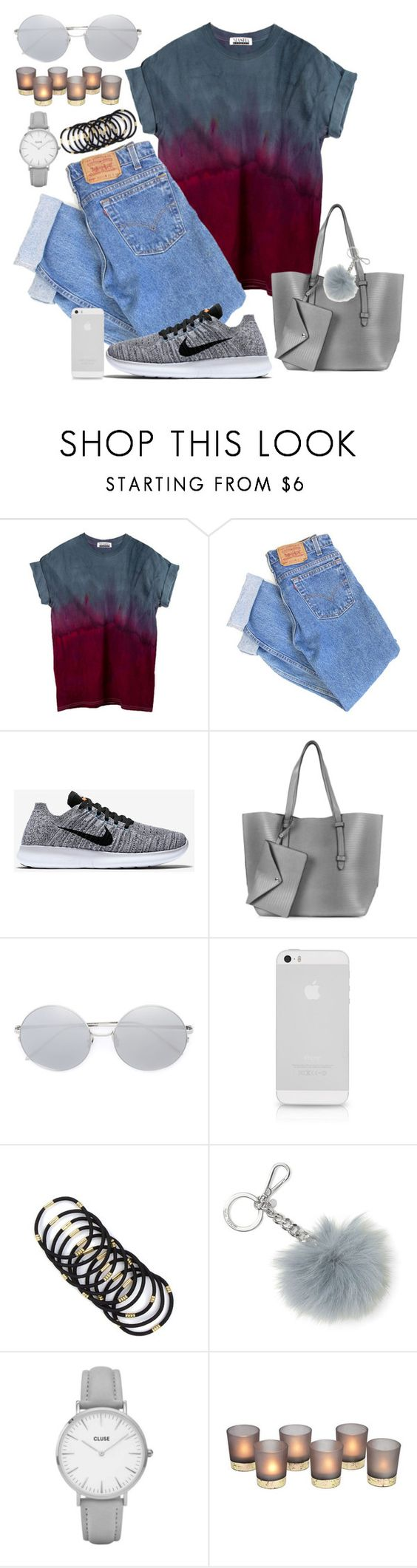"""""""ex's & oh's"""" by catsrgr8 ❤ liked on Polyvore featuring Levi's, NIKE, Topshop, Linda Farrow and MICHAEL Michael Kors"""