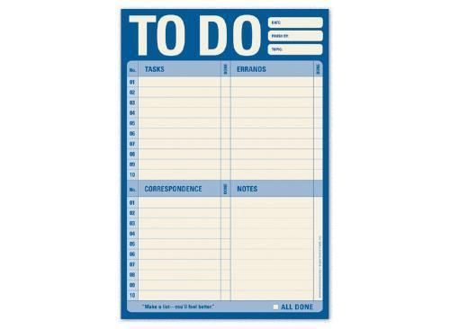 To do list notepad task note day planner organizer home for New home to do list