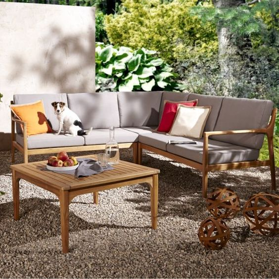 lounge set, 4-tlg., manchester, holz, textil katalogbild | for the, Hause und garten