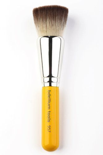 Bdellium Tools Professional Antibacterial Makeup Brush Travel Line - Precision Kabuki Airbrushed Effect 957 by Bdellium Tools. $14.52. Luxuriously lacquered short wooden handles for convenient travel. Ideal for application with liquid, cream various powder products. Perfect for flawless application. Bristles are treated with an antibacterial agent to preserve skin quality. Extra soft and dense flat bristled head gives professional blushing effect. Bdellium Tools Travel...