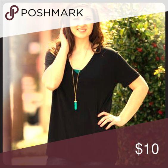 Black Piko V Neck short sleeve size medium Black Piko V neck short sleeve t shirt size medium Piko Tops Tees - Short Sleeve
